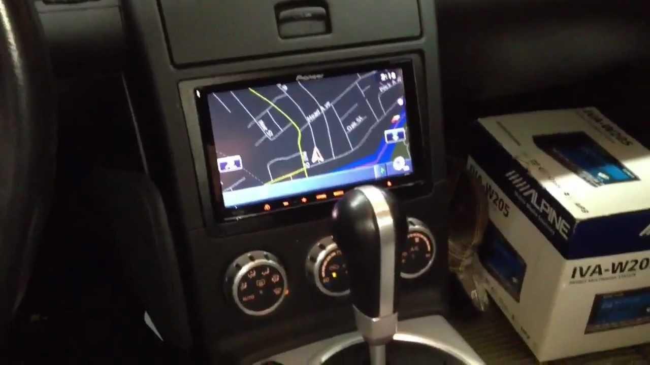 Nissan 350z 2005 with pioneer avic-z130bt - YouTube