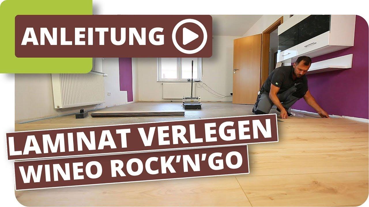 laminat verlegen wineo rock 39 n 39 go das leise laminat mit system youtube. Black Bedroom Furniture Sets. Home Design Ideas