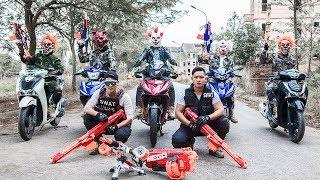 Download Video NERF WAR : Special Task SWAT Warriors Nerf Guns Battle Attack Criminal Gang Mask Dangerous MP3 3GP MP4