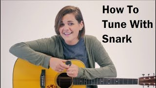 How To Use A Snark Tuner on a Guitar