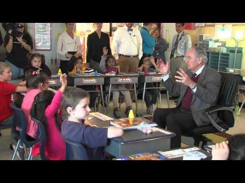 Sen. Tom Harkin Visits Brubaker Elementary