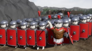 ROMAN ARMY TAKES ON THE GAULS!!! - Shield Wall - Ep1