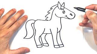 Dibujo Caballo Para Niños Fácil