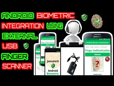 Android Biometric Fingerprint Registration and Authentication using DigitalPersona 4500 Scanner
