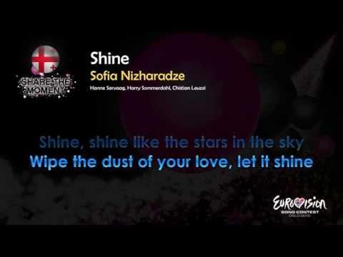 """Sofia Nizharadze - """"Shine"""" (Georgia) - [Karaoke version]"""