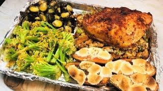 Thanksgiving Dinner in One Hour | One Sheet Pan Thanksgiving Dinner For Four | Easy & Healthy