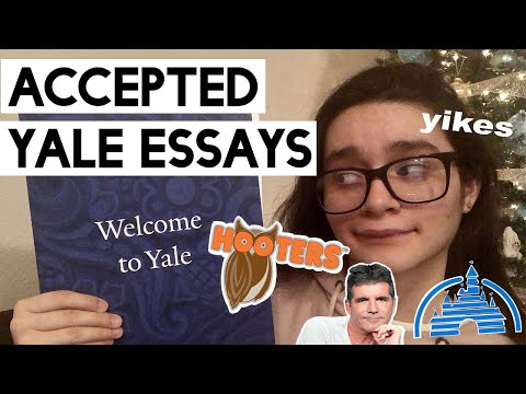 ESSAYS THAT GOT ME INTO YALE!! +ADVICE