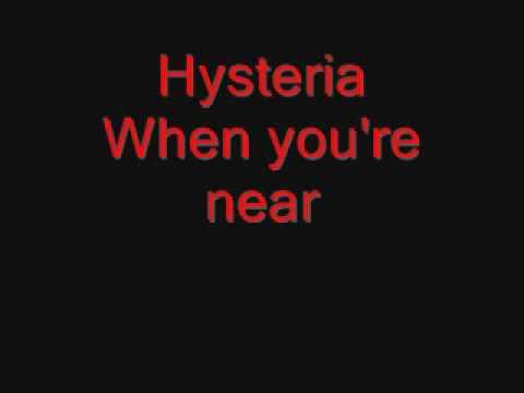 Def Leppard - Hysteria (lyrics)