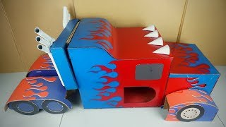 How to Make OPTIMUS PRIME out of Cardboard - DIY Transformer Costume