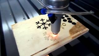 Reci 100w laser tube cutting 10mm plywood