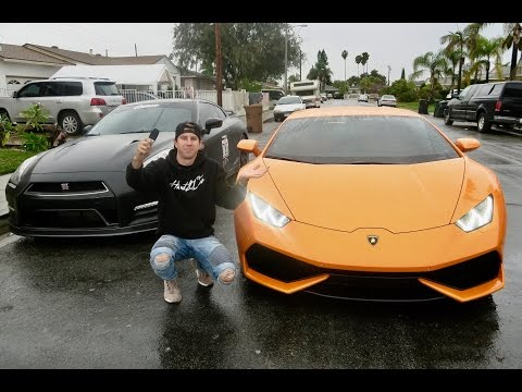 Traded my GTR for a Lamborghini Huracan for a day!