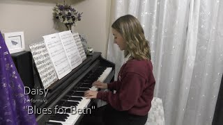 Daisy performing Blues for Beth (Grade 5)