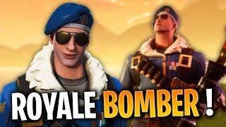 "SEE THE SKIN ""ROYALE BOMBER"" on FORTNITE Battle Royale!"
