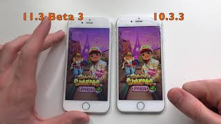 iPhone 6 ios 11.3 Beta 3 vs 10.3.3