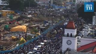 Jayalalithaa funeral procession on Anna Salai