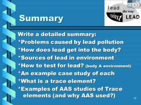 AAS - Lead and Trace Elements