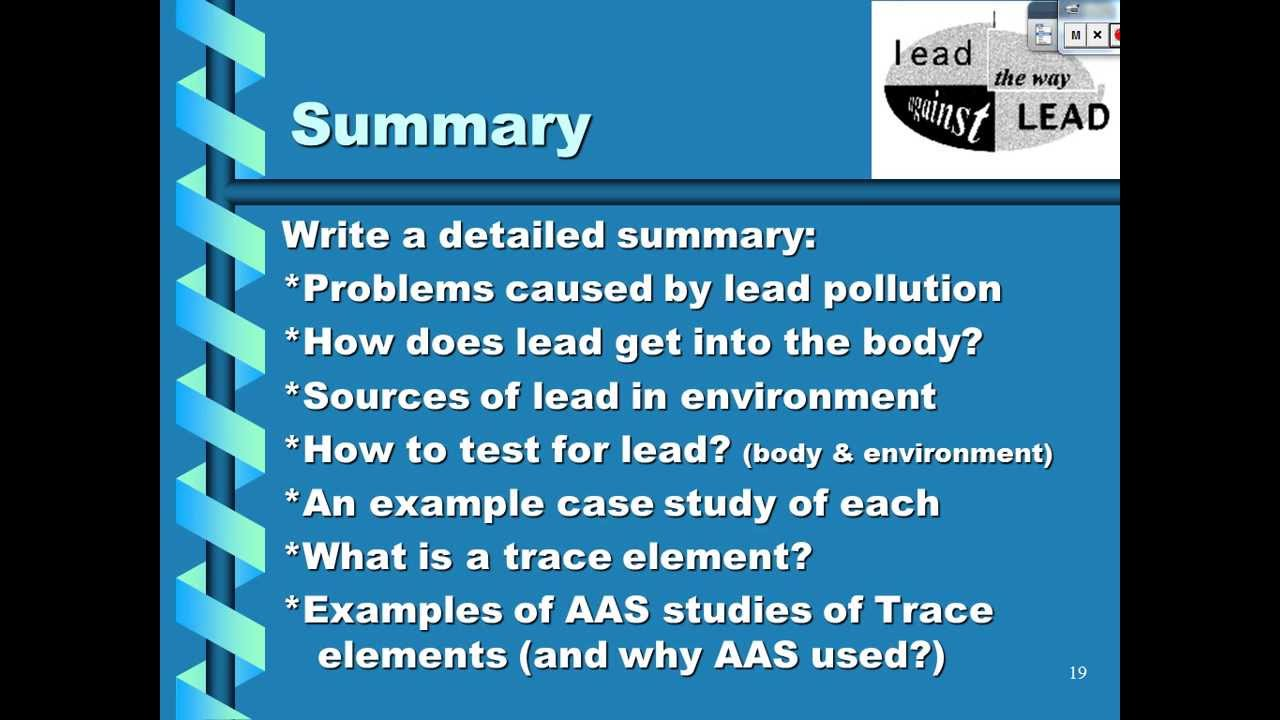 Aas Lead And Trace Elements Youtube