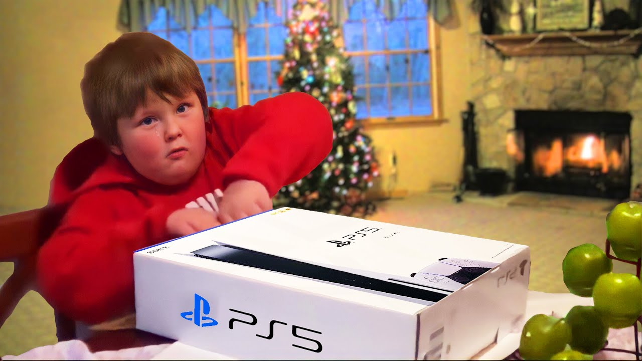 he SCREAMS after getting FAKE PS5 for Christmas..