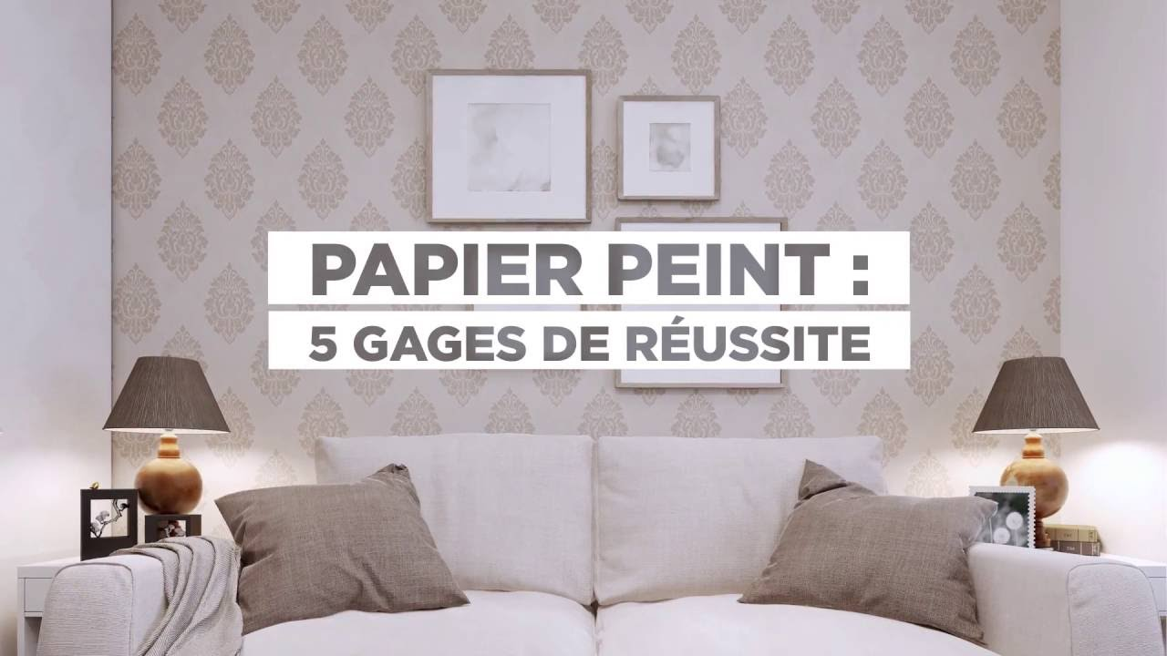 comment poser du papier peint youtube. Black Bedroom Furniture Sets. Home Design Ideas