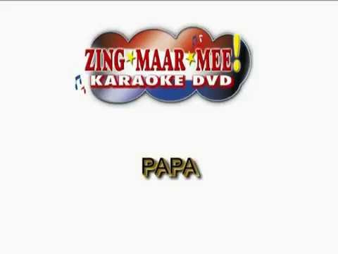 Stef Bos -  Papa ( KARAOKE ) Lyrics