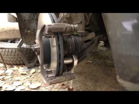 Fiat Doblo 1.3 multijet замена усиленных тормозных колодок и дисков