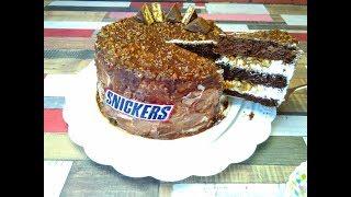 """Невероятно Вкусный и Быстрый Торт """"Сникерс"""""""