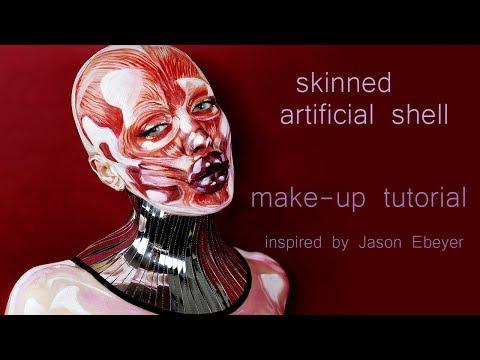 skinned make-up tutorial, sfx make-up, art thumbnail