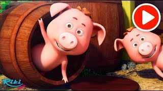 Маленькая Свинка - This Little Piggy | Nursery Rhymes на русском! Песенки для детей 🚜🐷