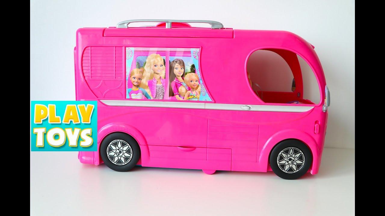 Barbie Glam Camper Van Rv Youtube
