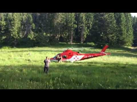 Еmergency helicopter transport of a severely injured woman with A109K2