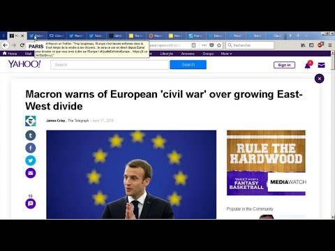 Macron proposes European 'citizen consultations' and warns of 'civil war'