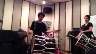 遊びでドラム交えてみました〜。【夢国】