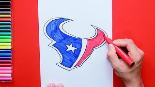 How to draw and color the Houston Texans Logo - NFL Team Series