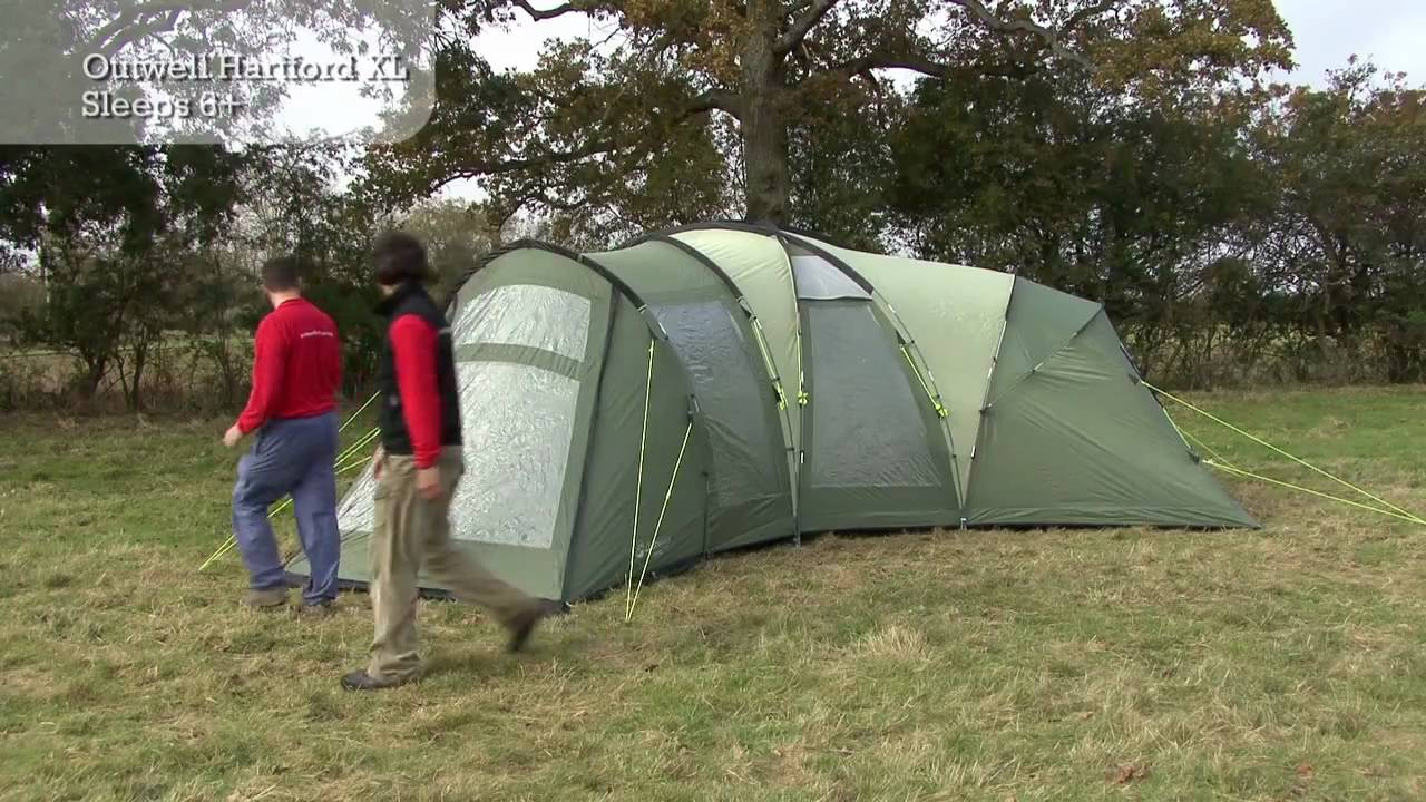 Outwell Hartford Xl Tent Pitching Video Youtube