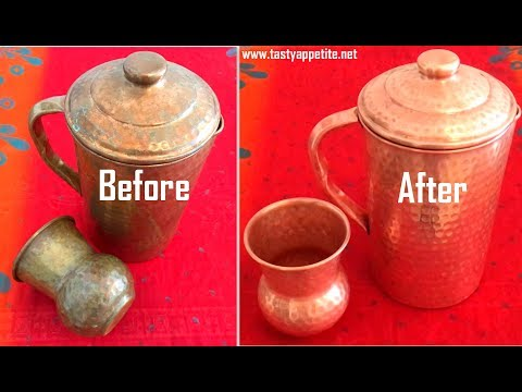 How to clean Copper Vessels | Copper Utensils at home in just 2 minutes - Quick and Easy Method