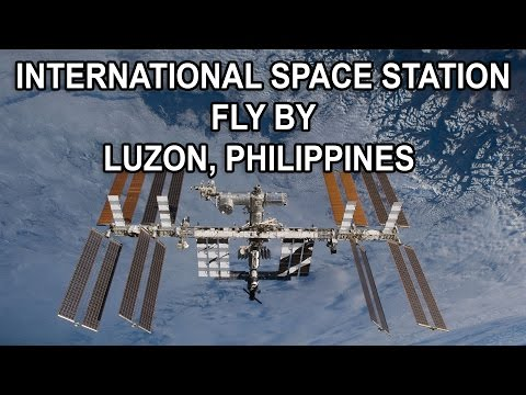 INTERNATIONAL SPACE STATION FLY BY LUZON, PHILIPPINES JANUARY 24, 2017
