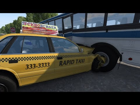 Should've Taken an Uber! (Taxi Crashes)   BeamNG.drive