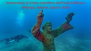 Immersione al Cristo redentore dell'isola Gallinara - Albenga, Savona, Liguria, Italia