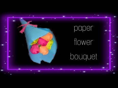 DIY Paper Flower Bouquet // How To Make A Paper Flower Bouquet // BY MRIGAKSHI
