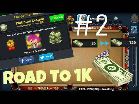 8 ball pool | ROAD TO 1K CASH - PART #2 | ROME + BANKOK + SEOUL | [NO HACK/CHEAT]