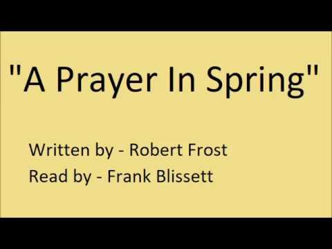 a prayer in spring