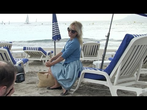 Pamela Anderson at Sea Shepherd Event on the beach in Cannes