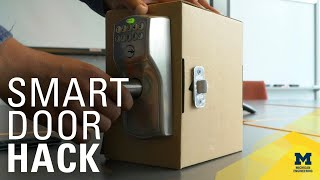 Watch engineers hack a 'smart home' door lock