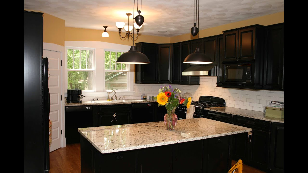 Kitchen Cabinet Colors For Black Countertops kitchen cabinets and countertops ideas - youtube