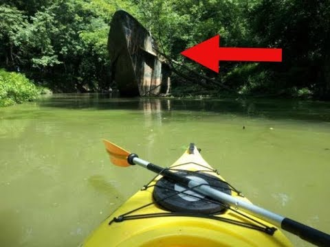 100 Year Old 'Ghost Ship' Found By Kayakers On The Ohio River