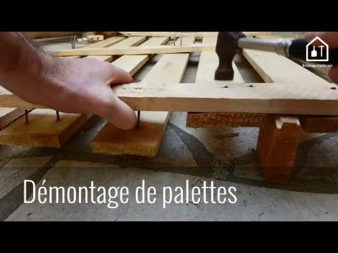 astuce bricolage d monter des planches de palettes bricolage facile youtube. Black Bedroom Furniture Sets. Home Design Ideas