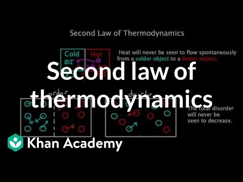 Second law of thermodynamics | Chemical Processes | MCAT | Khan Academy