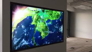 China Shanghai 2*2 LCD splicing touch video wall