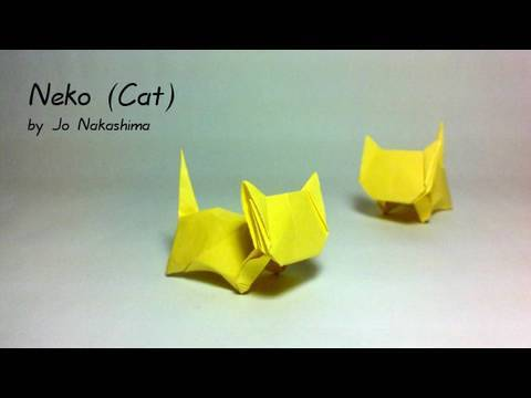 Origami Neko Cat Jo Nakashima Youtube