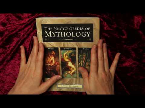 Flipping through a book ASMR ❦ Classical Mythology ❦ soft spoken page turning